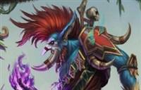 魔兽玩家绘画:部落酋长,暗矛首领—沃金!