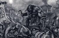 德拉诺绘画参赛作品:战争之王卡加斯真汉子