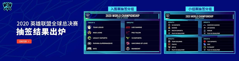 全球总决赛抽签结果出炉