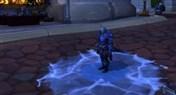 冰DK的专属特效:离开时角色角色缓慢结冰